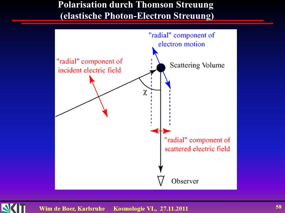 Polarisation durch Thomson Streuung
