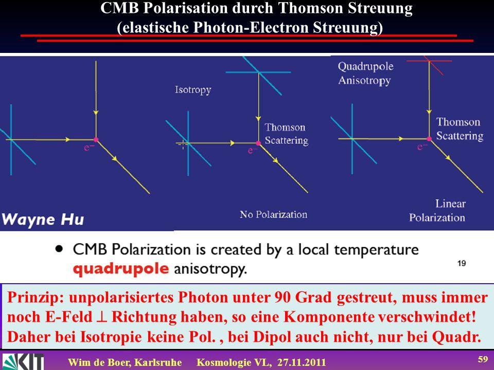 CMB Polarisation durch Thomson Streuung