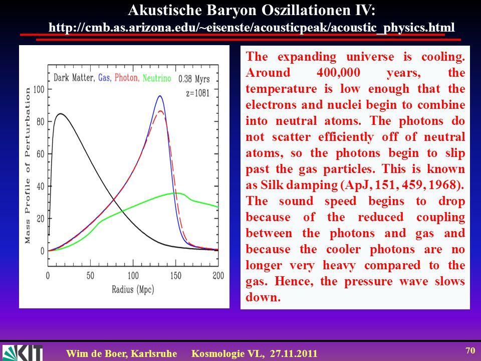 Akustische Baryon Oszillationen IV: http://cmb. as. arizona