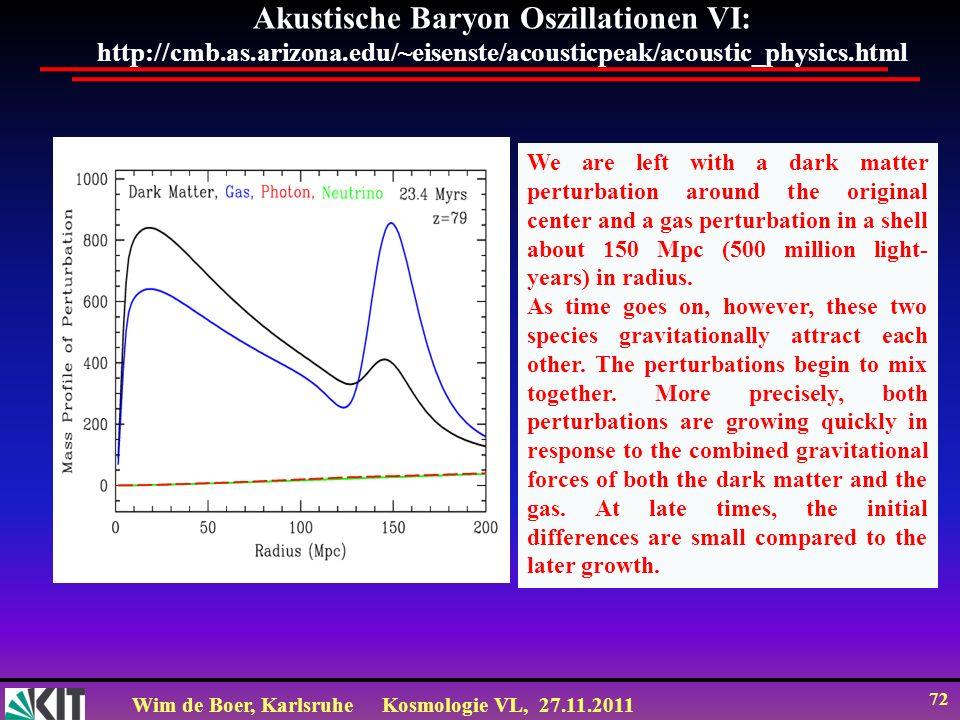 Akustische Baryon Oszillationen VI: http://cmb. as. arizona