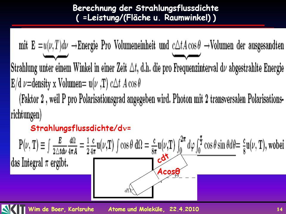 Berechnung der Strahlungsflussdichte