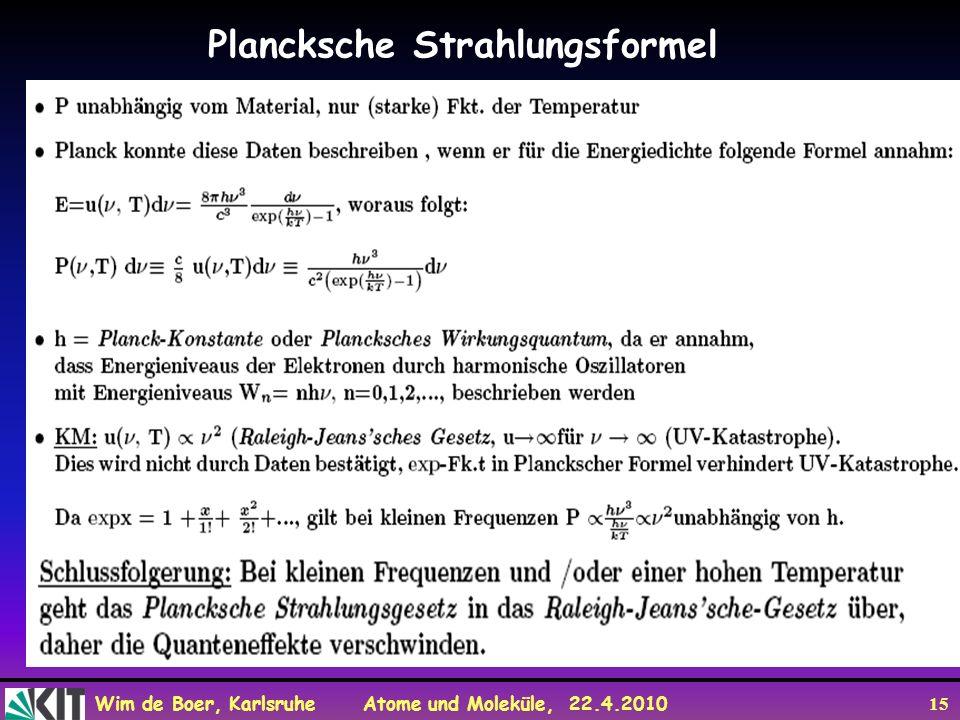 Plancksche Strahlungsformel