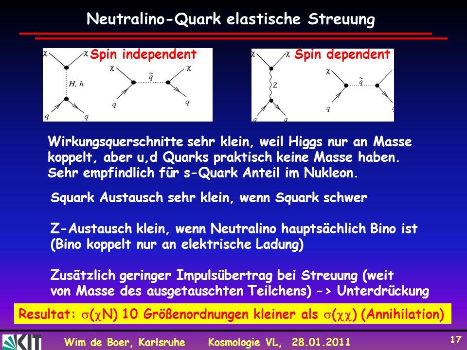 Neutralino-Quark elastische Streuung