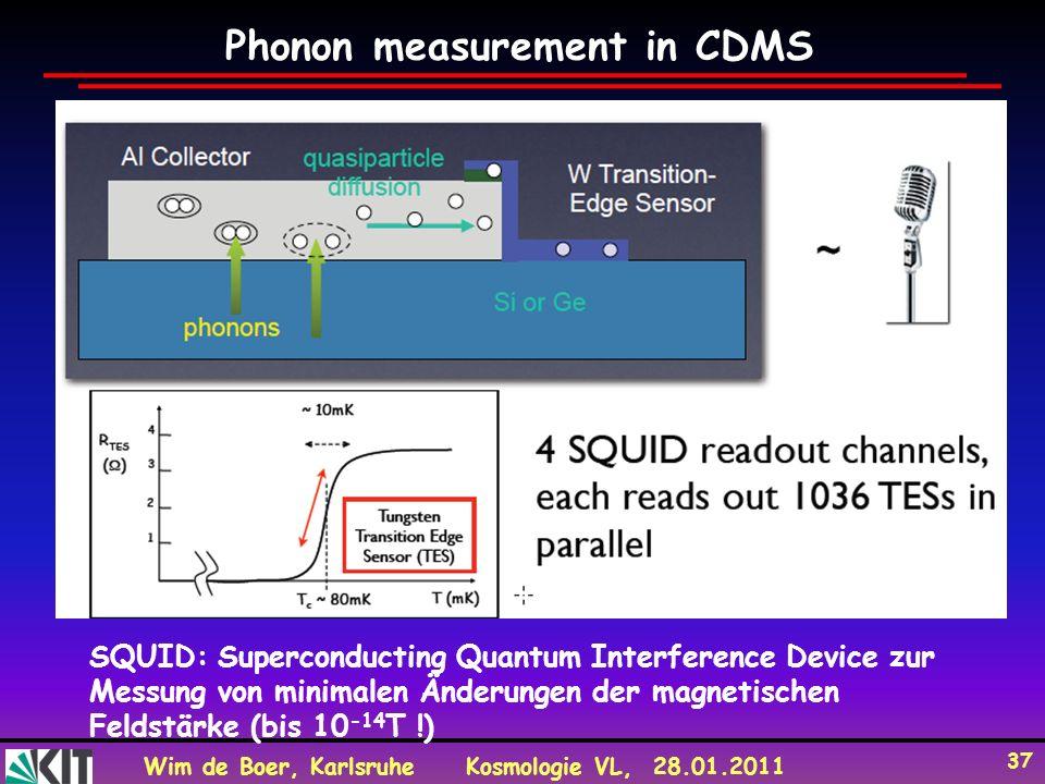 Phonon measurement in CDMS