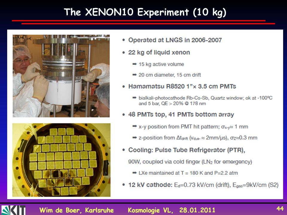 The XENON10 Experiment (10 kg)