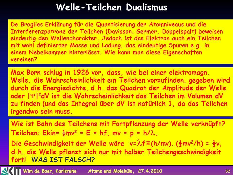 Welle-Teilchen Dualismus