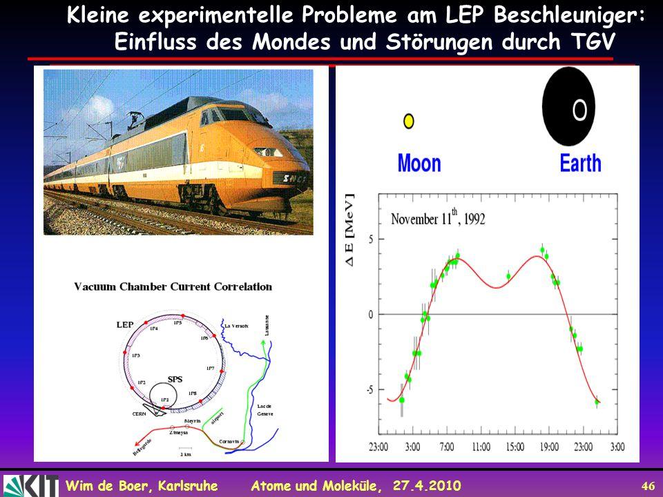 Kleine experimentelle Probleme am LEP Beschleuniger: