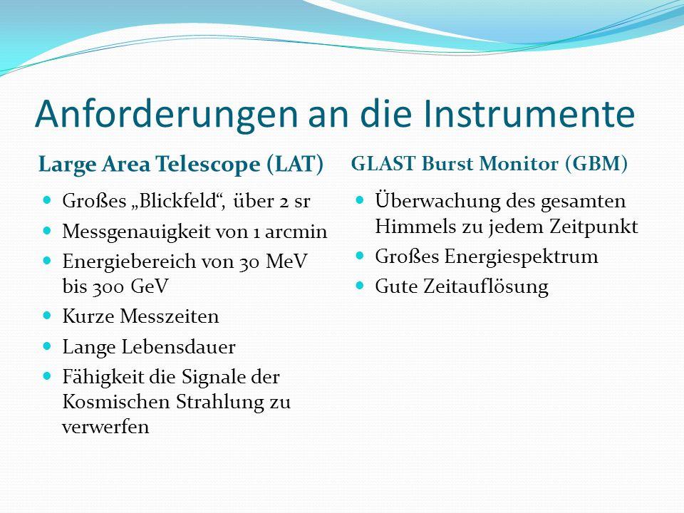 Anforderungen an die Instrumente