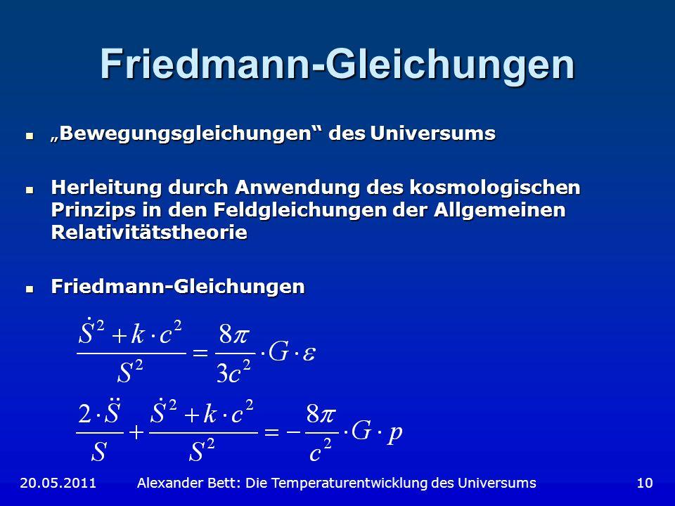 Friedmann-Gleichungen