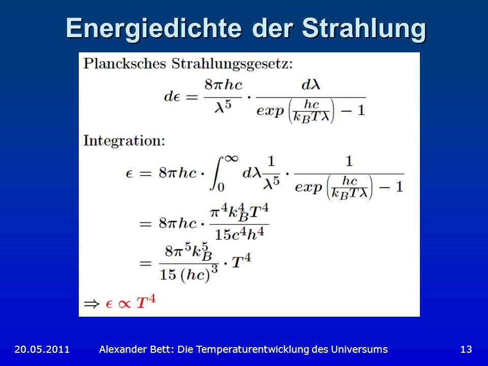 Energiedichte der Strahlung