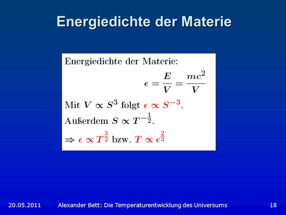 Energiedichte der Materie