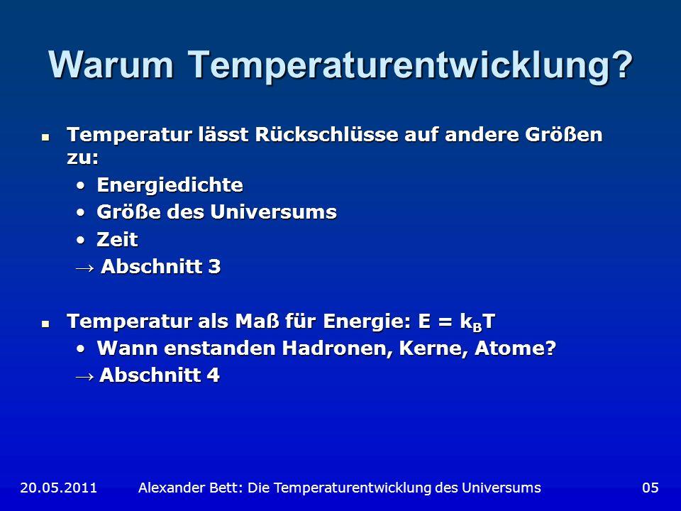 Warum Temperaturentwicklung