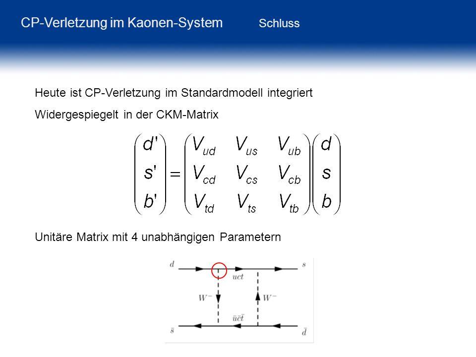 CP-Verletzung im Kaonen-System Schluss