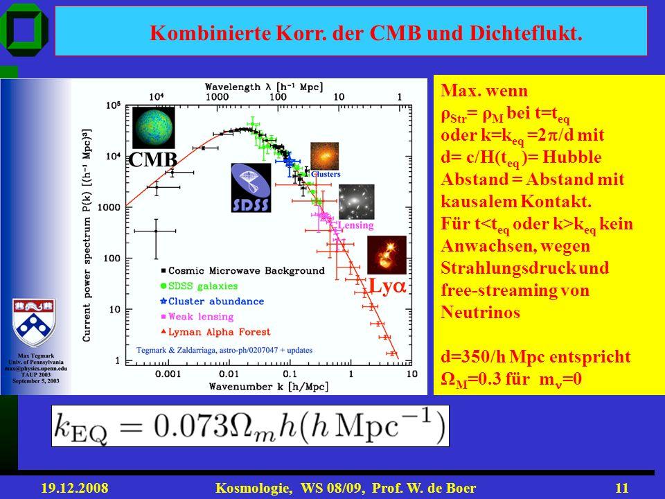 Kombinierte Korr. der CMB und Dichteflukt.