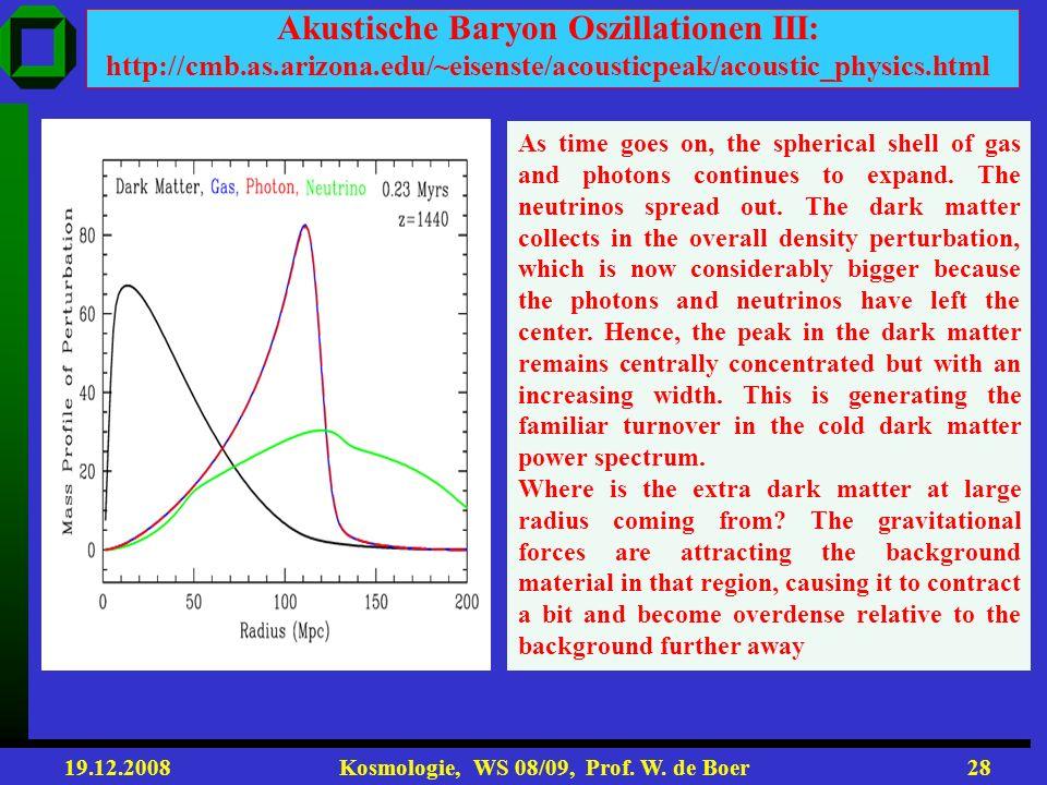 Akustische Baryon Oszillationen III: http://cmb. as. arizona