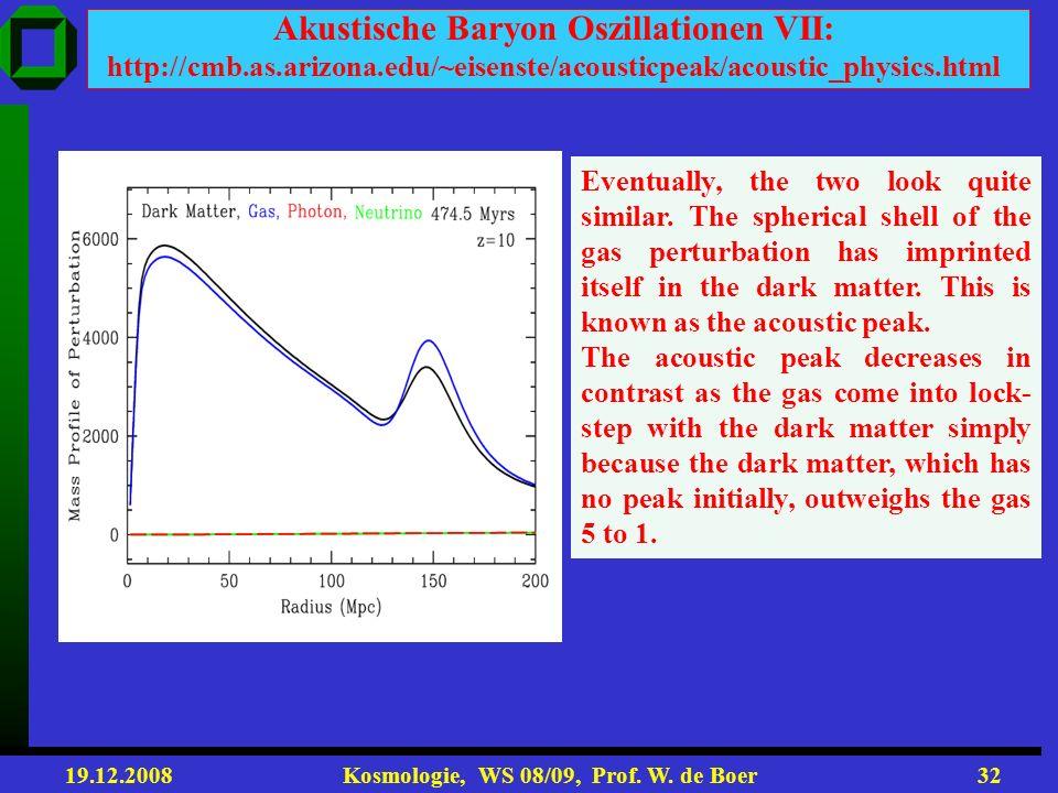 Akustische Baryon Oszillationen VII: http://cmb. as. arizona