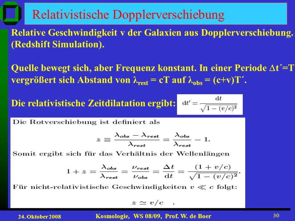 Relativistische Dopplerverschiebung
