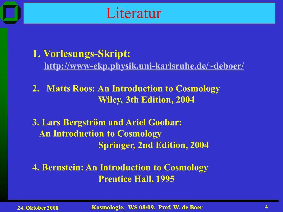 Literatur 1. Vorlesungs-Skript: