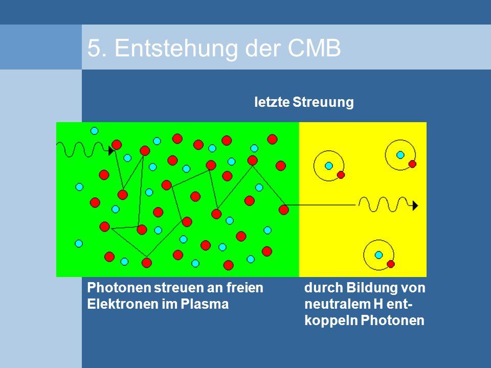 5. Entstehung der CMB letzte Streuung