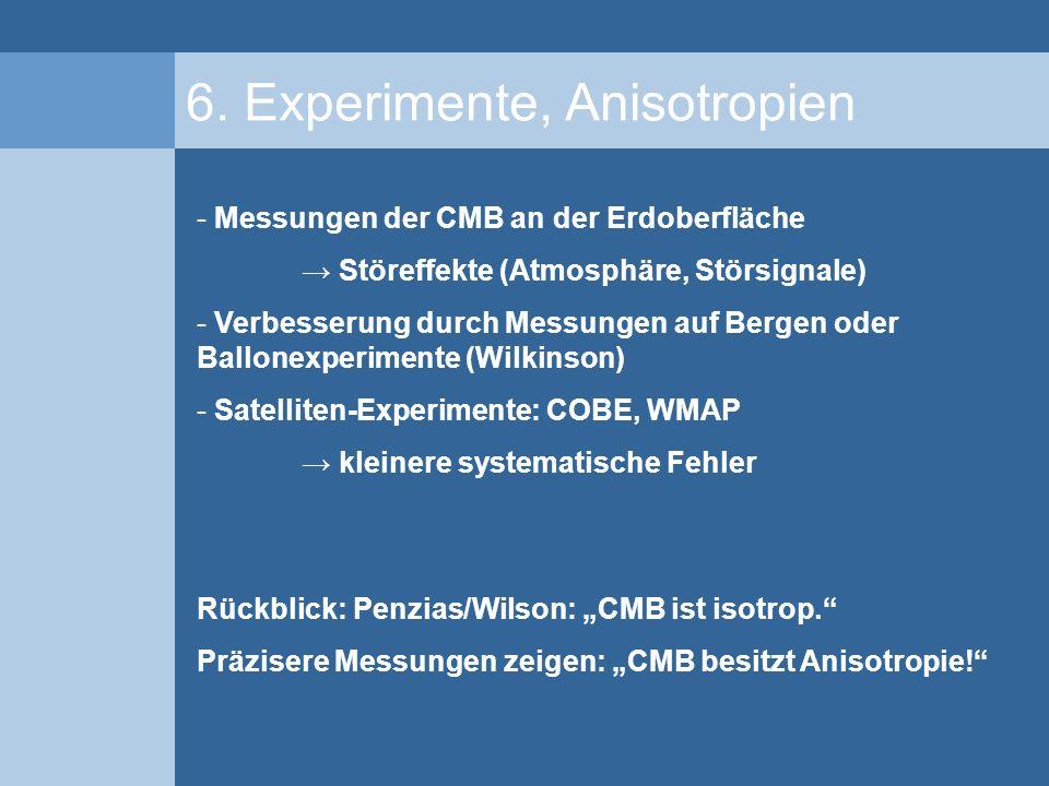 6. Experimente, Anisotropien