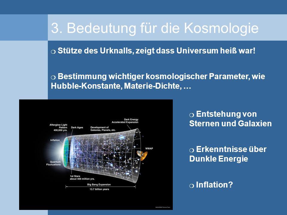 3. Bedeutung für die Kosmologie