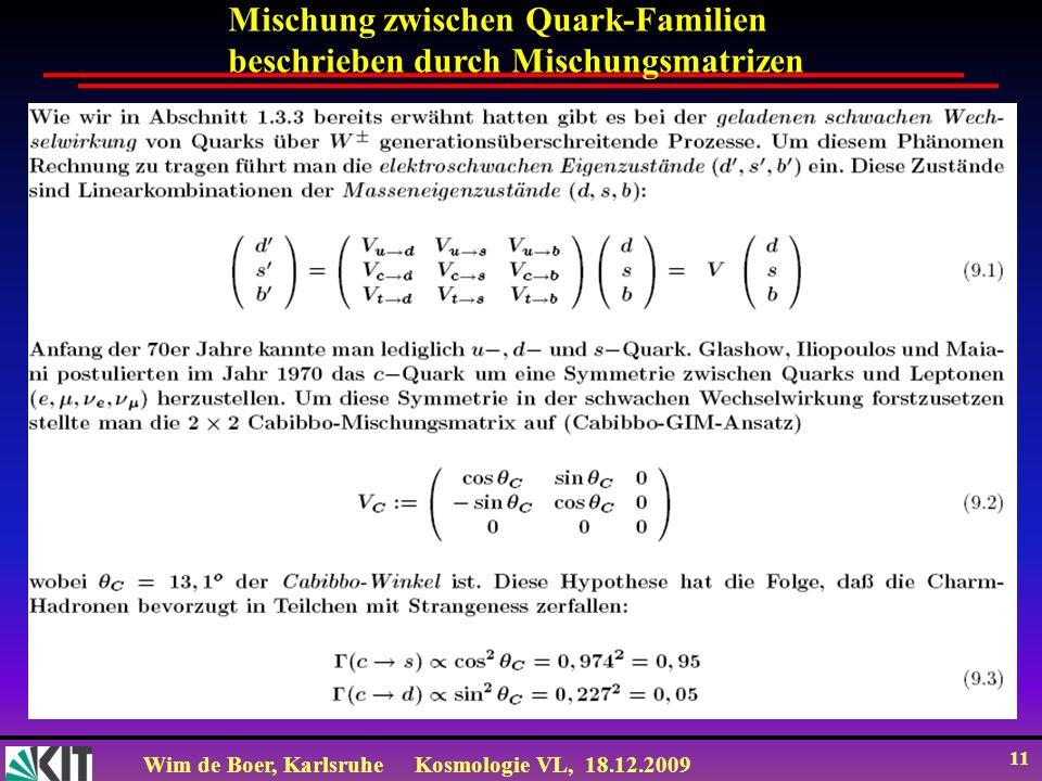 Mischung zwischen Quark-Familien