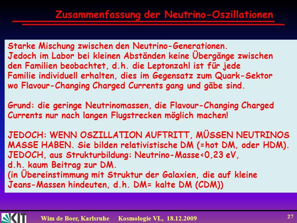 Zusammenfassung der Neutrino-Oszillationen