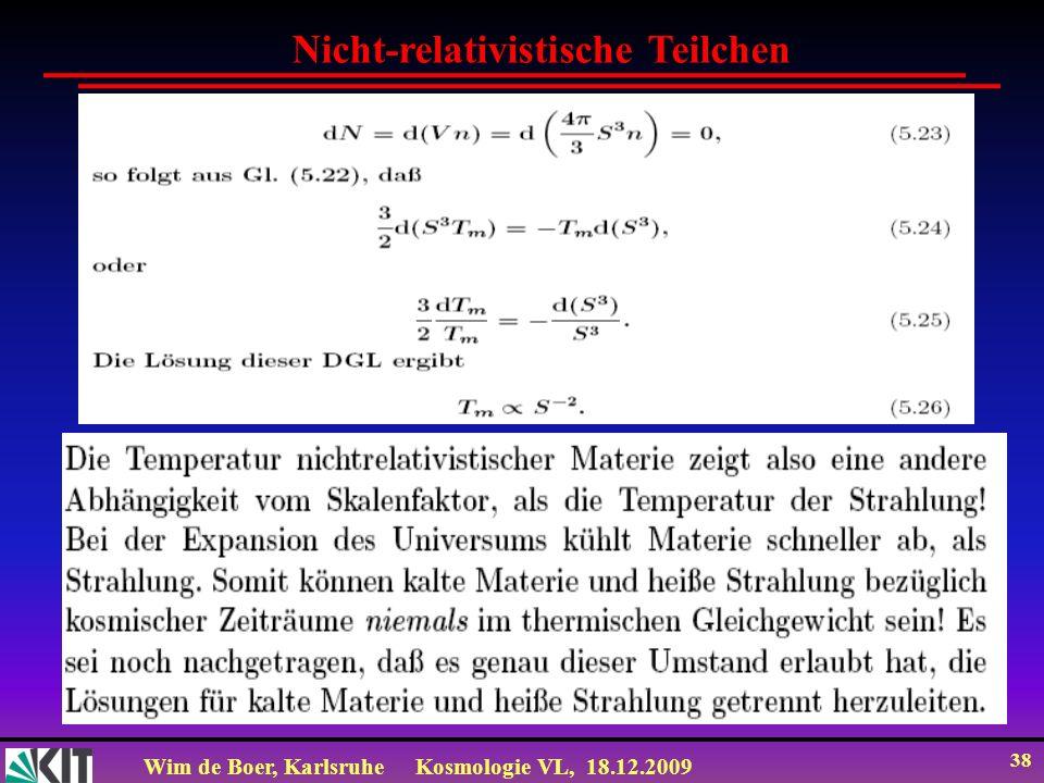 Nicht-relativistische Teilchen