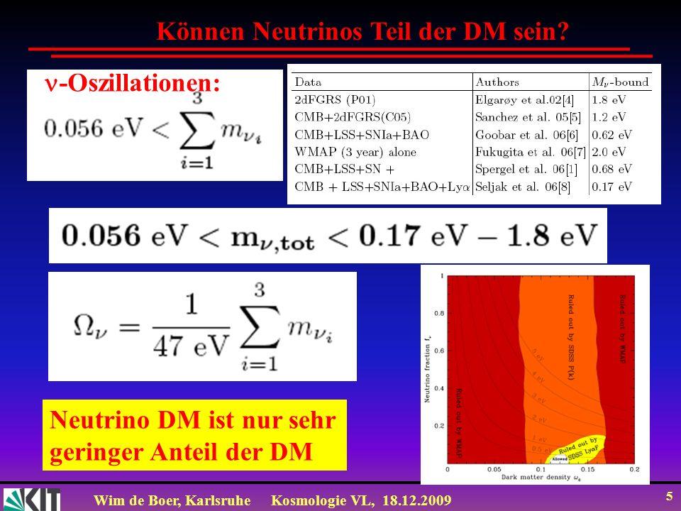 Können Neutrinos Teil der DM sein