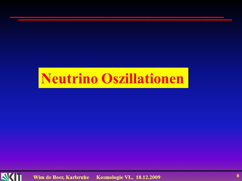 Neutrino Oszillationen
