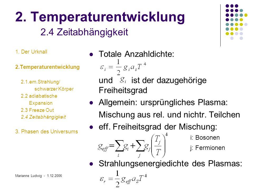 2. Temperaturentwicklung 2.4 Zeitabhängigkeit