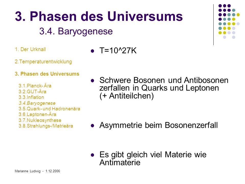 3. Phasen des Universums 3.4. Baryogenese