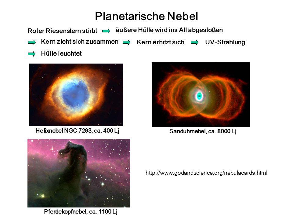 Planetarische Nebel Roter Riesenstern stirbt