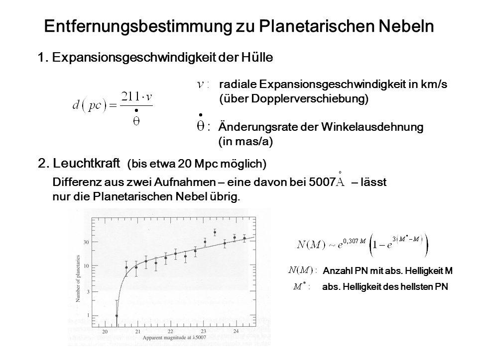 Entfernungsbestimmung zu Planetarischen Nebeln