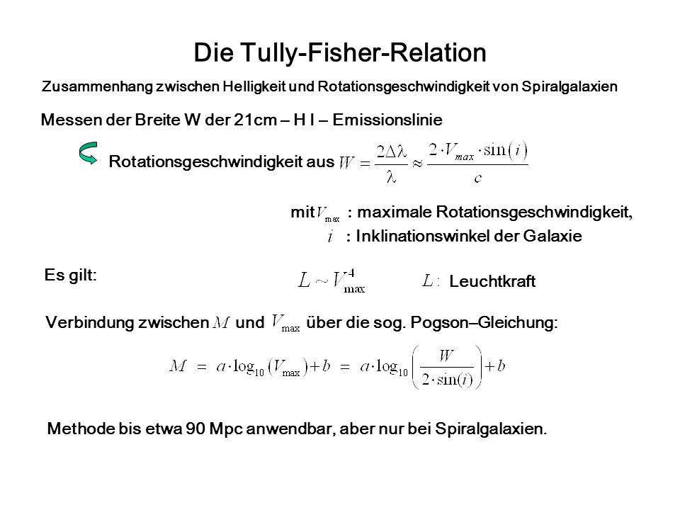 Die Tully-Fisher-Relation
