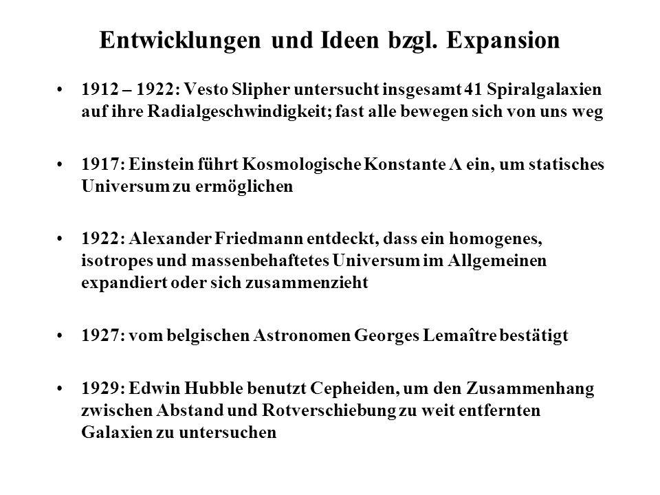 Entwicklungen und Ideen bzgl. Expansion