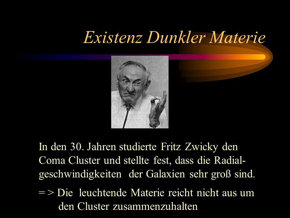 Existenz Dunkler Materie
