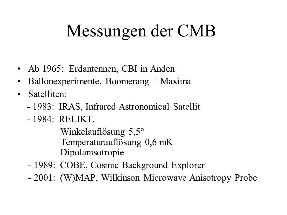 Messungen der CMB Ab 1965: Erdantennen, CBI in Anden
