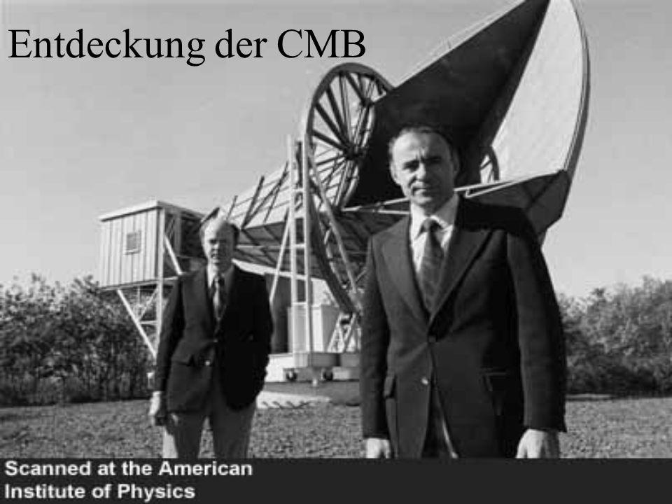 Entdeckung der CMB Links: Robert Woodrow Wilson