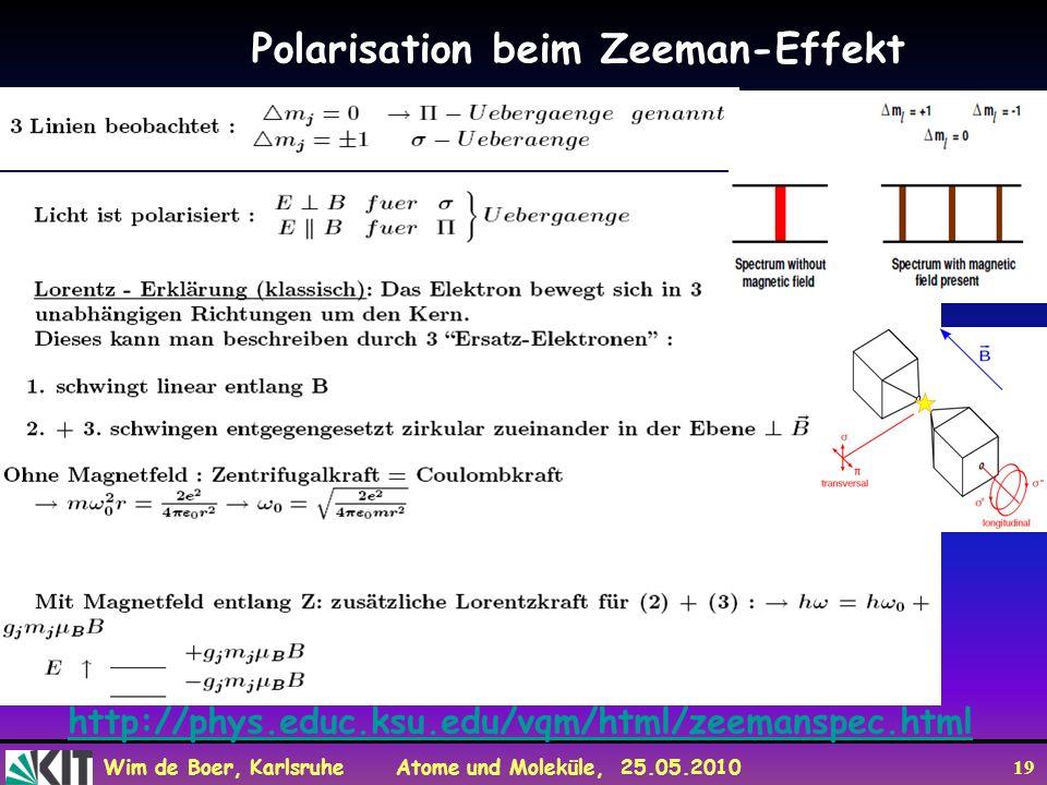 Polarisation beim Zeeman-Effekt