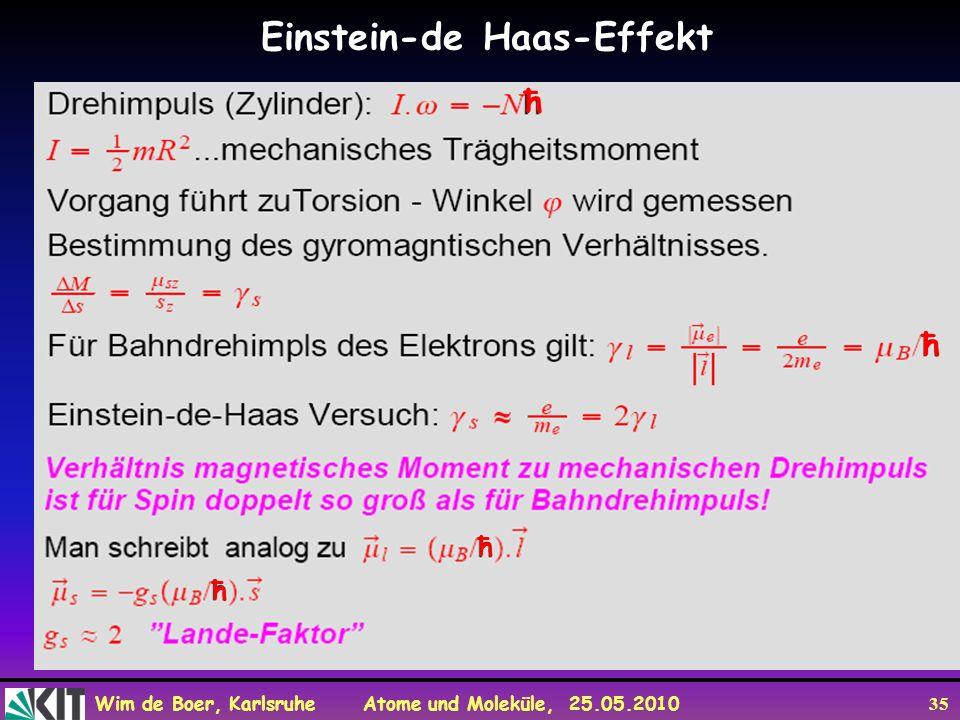 Einstein-de Haas-Effekt