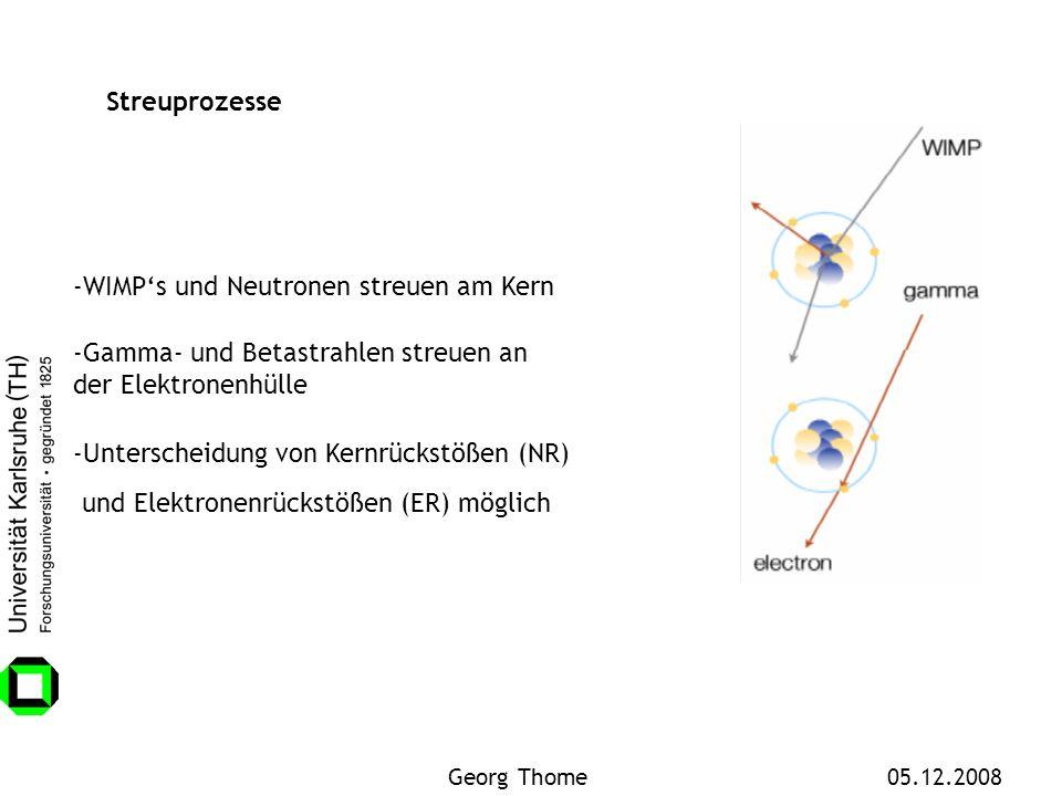 -WIMP's und Neutronen streuen am Kern
