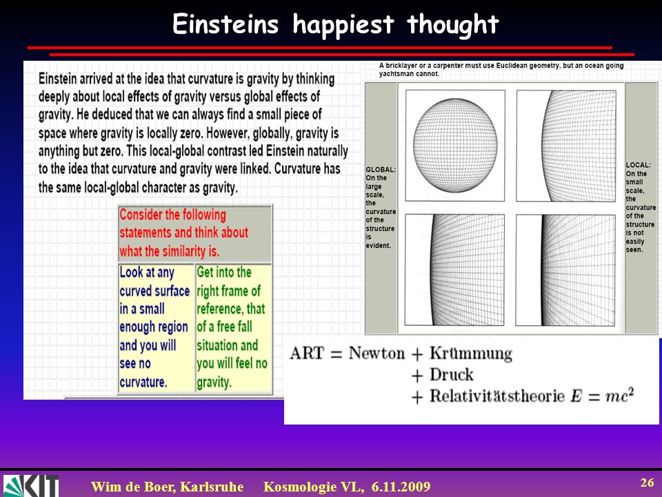 Einsteins happiest thought