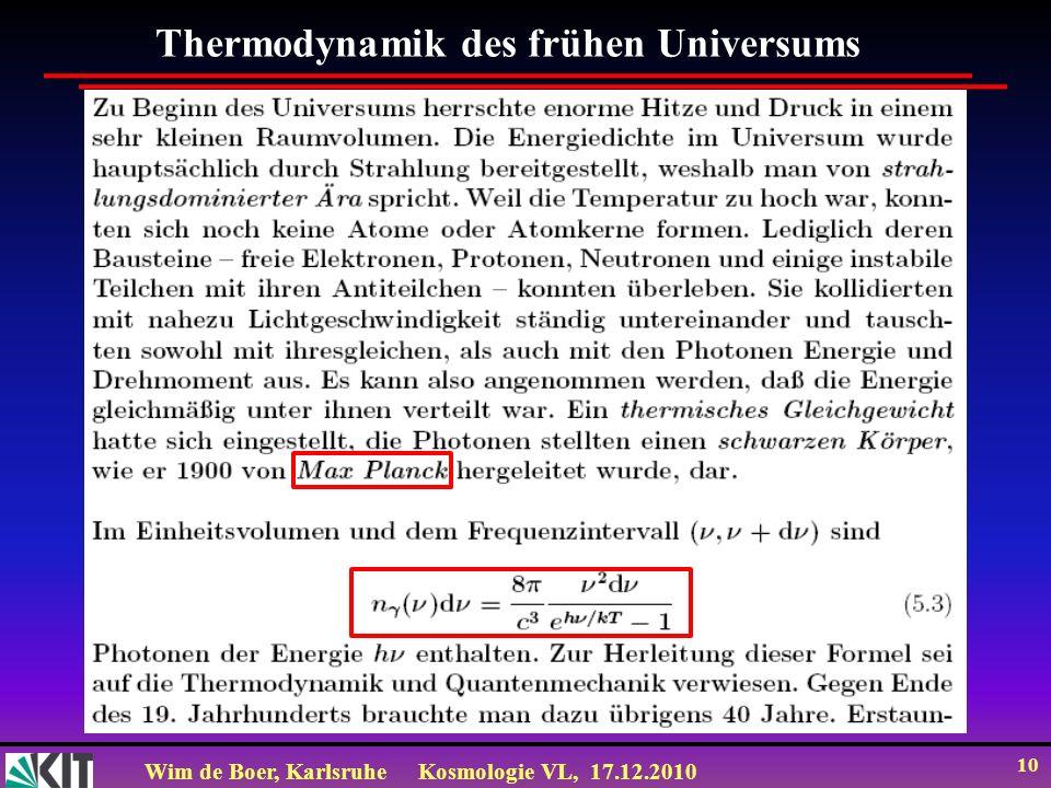 Thermodynamik des frühen Universums