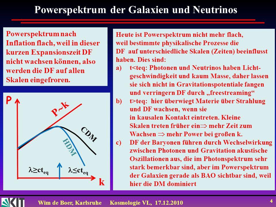 Powerspektrum der Galaxien und Neutrinos