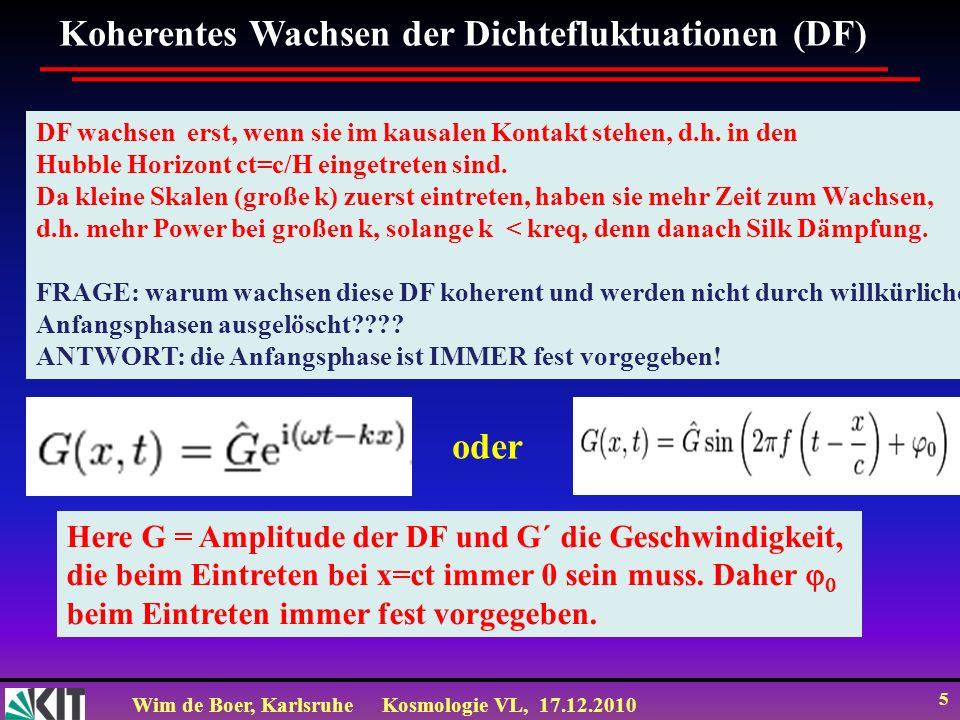 Koherentes Wachsen der Dichtefluktuationen (DF)