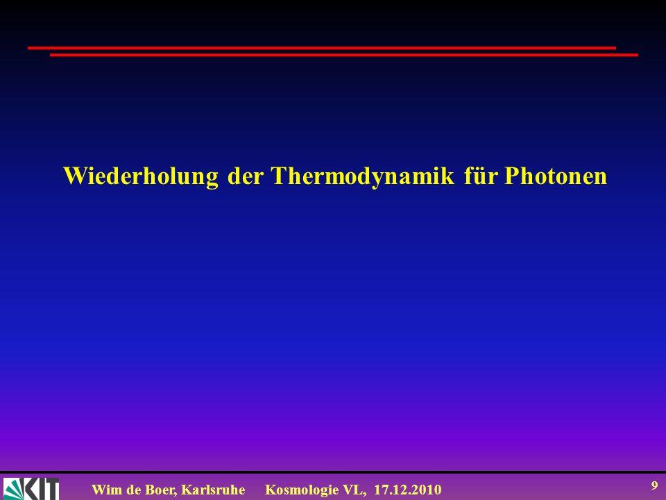 Wiederholung der Thermodynamik für Photonen