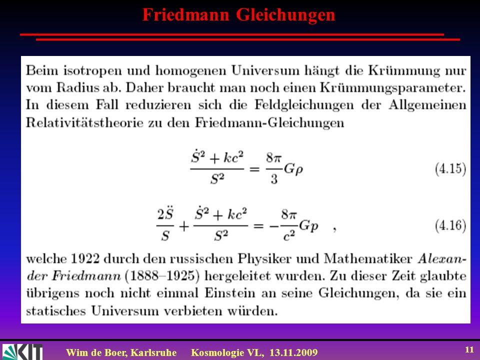 Friedmann Gleichungen