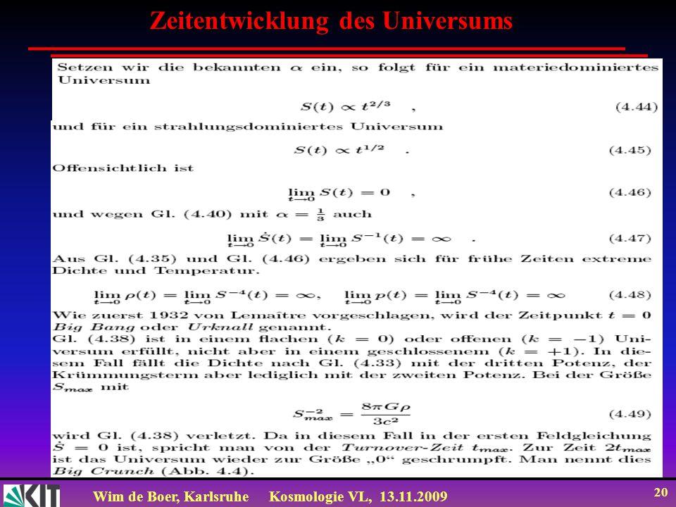 Zeitentwicklung des Universums