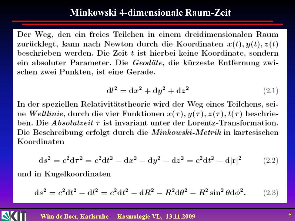 Minkowski 4-dimensionale Raum-Zeit